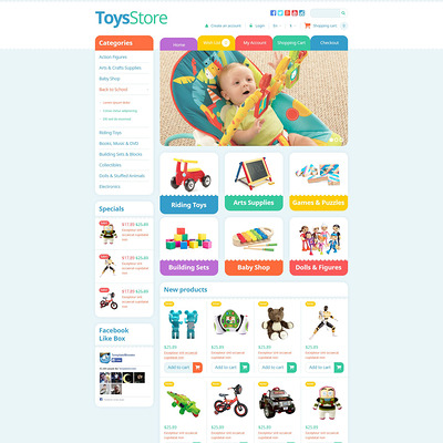 Toys Store OpenCart Template (OpenCart theme for kids toys) Item Picture