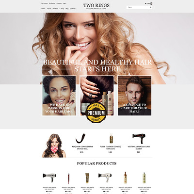 Two Rings WooCommerce Theme (WooCommerce theme for selling jewelry and watches) Item Picture