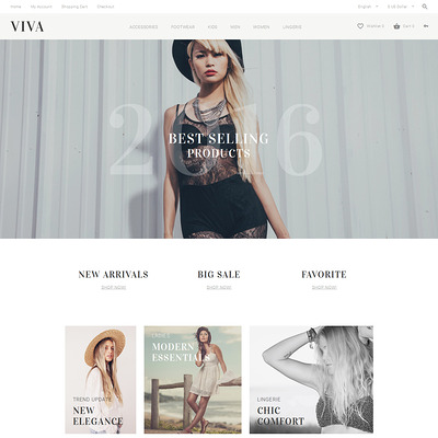 VIVA OpenCart Template (OpenCart theme for clothing stores) Item Picture