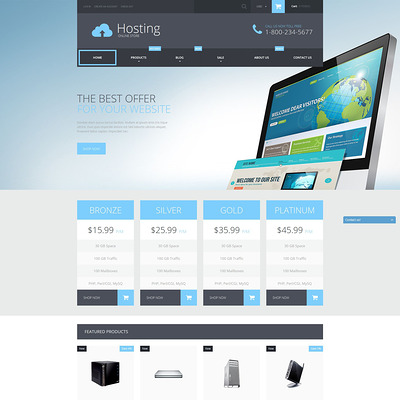 Web Hosting Services Shopify Theme (parallax Shopify theme) Item Picture