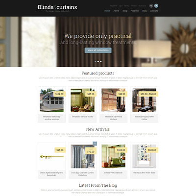 Window Decor Responsive WooCommerce Theme (WooCommerce theme for home decor and interior design stores) Item Picture