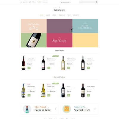Wine for Your Delight WooCommerce Theme (WooCommerce theme for selling wine) Item Picture