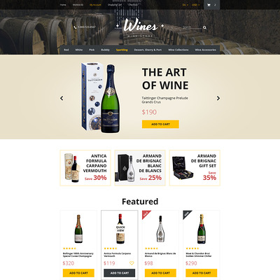 Wines OpenCart Template (OpenCart theme for selling liquor, wine, and beer) Item Picture