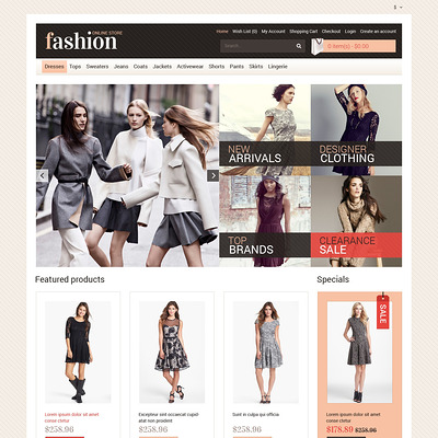 Your Fashion Store OpenCart Template (OpenCart theme for clothing stores) Item Picture