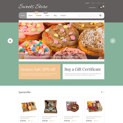 Yummy Sweets WooCommerce Theme (WooCommerce theme for selling food and spices) Item Picture