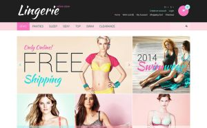best opencart themes lingerie underwear stores feature