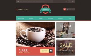best opencart themes selling tea coffee feature