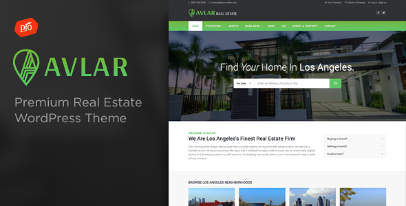 Avlar (real-estate WordPress theme) Item Picture