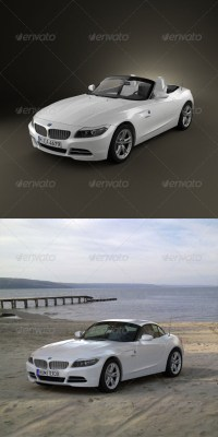 BMW Z4 2010 (3D model of a car, vehicle, or automobile) Item Picture