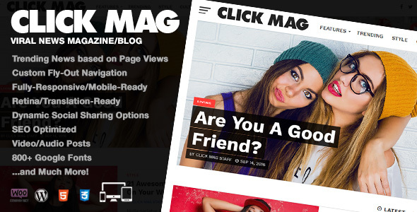 Click Mag (viral WordPress theme with frontend submission) Item Picture