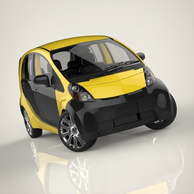 Electronic car (3D model of a car, vehicle, or automobile) Item Picture