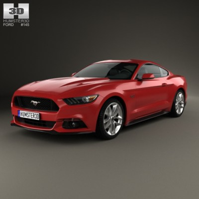 Ford Mustang GT 2015 (3D model of a car, vehicle, or automobile) Item Picture