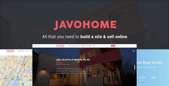 Javo Home (real-estate WordPress theme) Item Picture