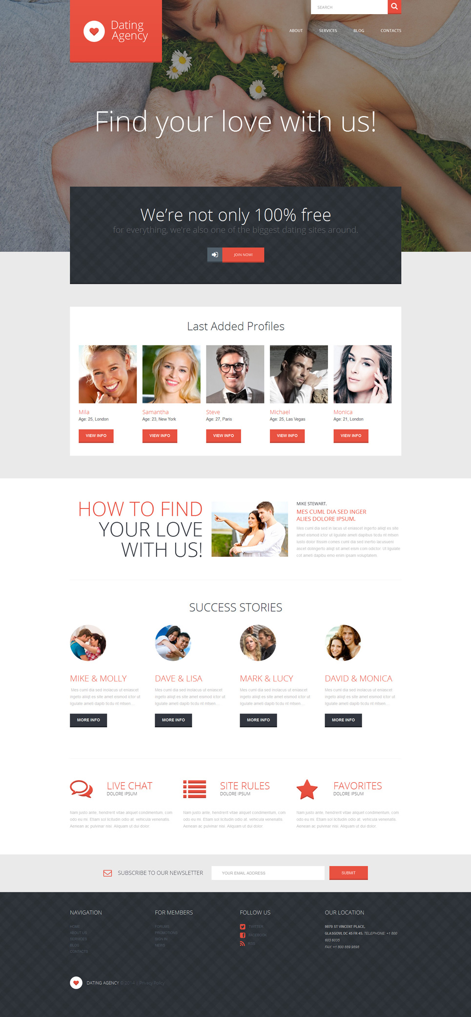 Love Romance WordPress Theme (WordPress theme) Item Picture