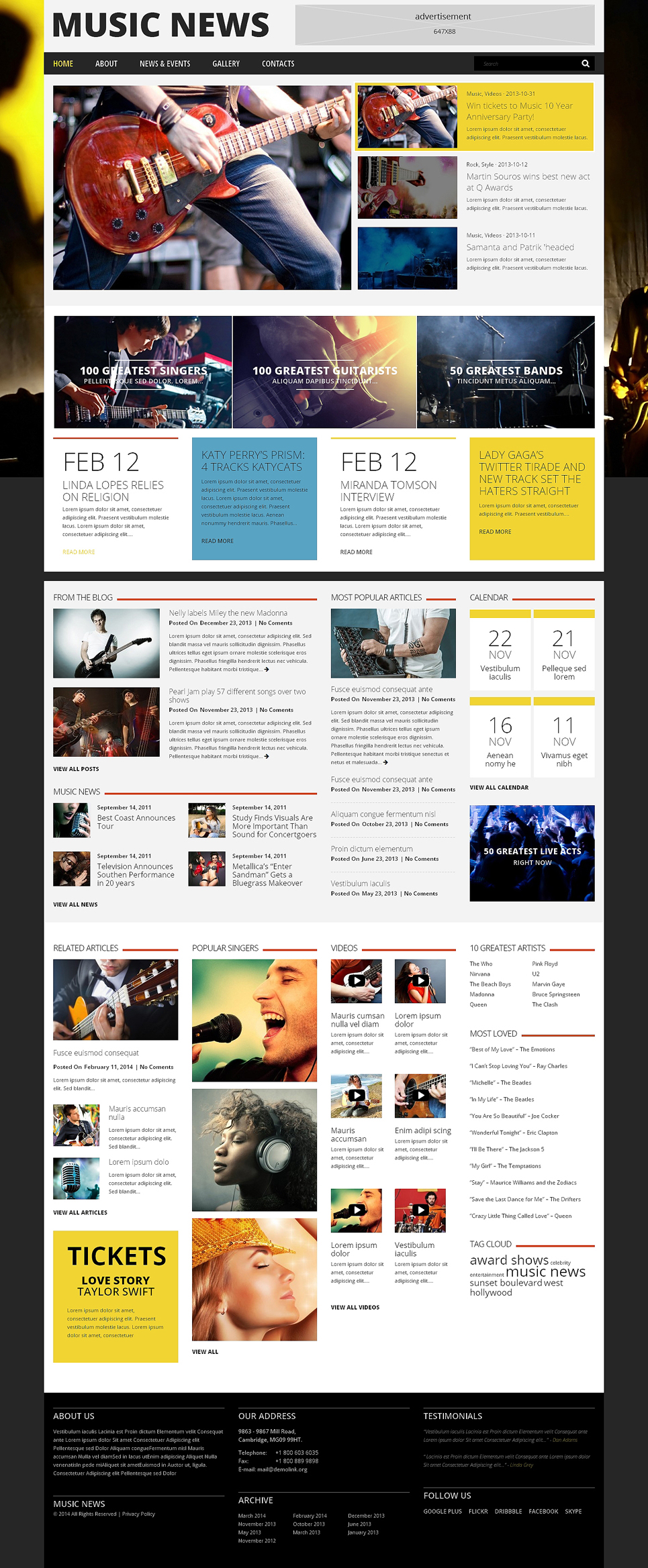 Music Fan Board WordPress Theme (WordPress theme for radio stations) Item Picture