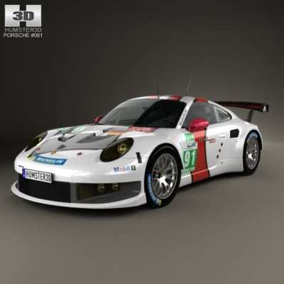 Porsche 911 Carrera (991) RSR 2013 (3D model of a car, vehicle, or automobile) Item Picture