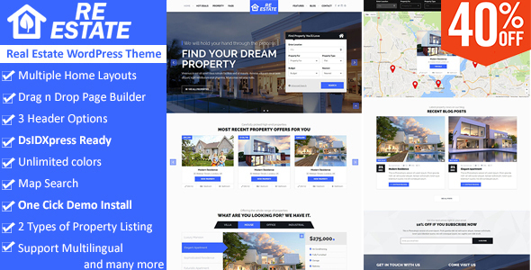 ReEstate (real-estate WordPress theme) Item Picture