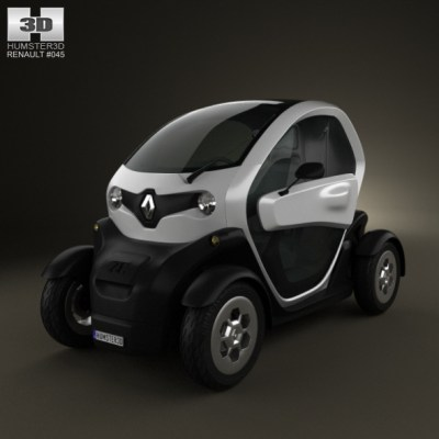 Renault Twizy 2012 (3D model of a car, vehicle, or automobile) Item Picture