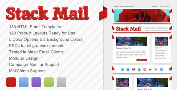 Stack Mail (email template) Item Picture