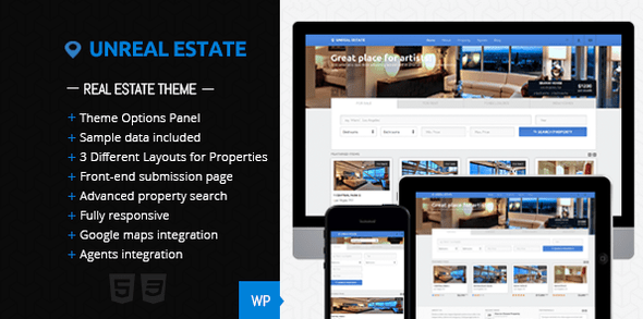 Unreal Estate (real-estate WordPress theme) Item Picture