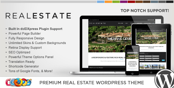 WP Pro Real Estate 5 Responsive WordPress Theme (real-estate WordPress theme) Item Picture