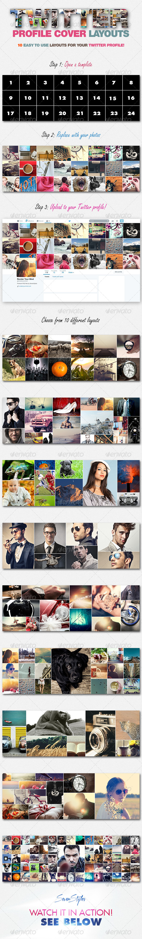 10 Twitter Profile Cover Templates