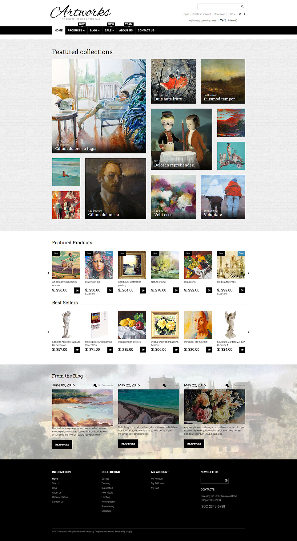 Art Web Responsive Shopify Theme (ecommerce theme) Item Picture