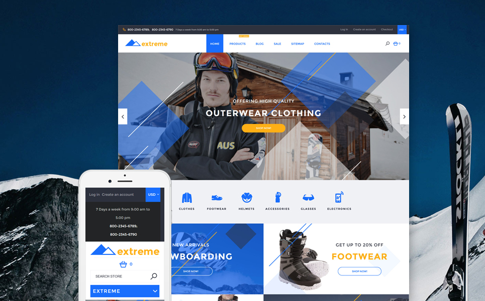 Extreme (website template for ecommerce) Item Picture