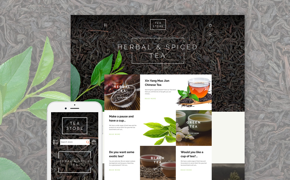 Tea Store (website template for ecommerce) Item Picture