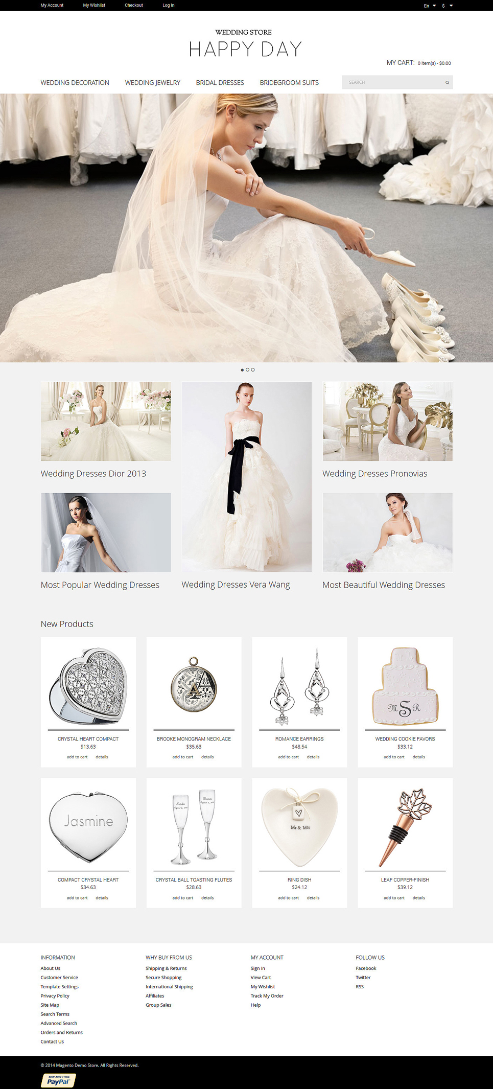 Wedding Store Magento Theme (wedding industry website theme) Item Picture