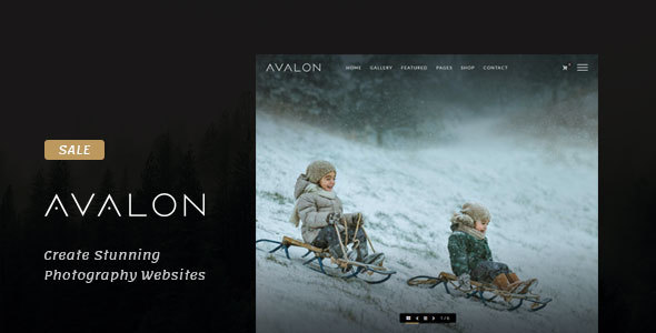 Avalon (dark WordPress theme for photography and photographers) Item Picture