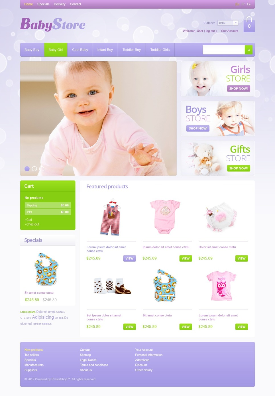 Baby Store (ecommerce PrestaShop template) Item Picture