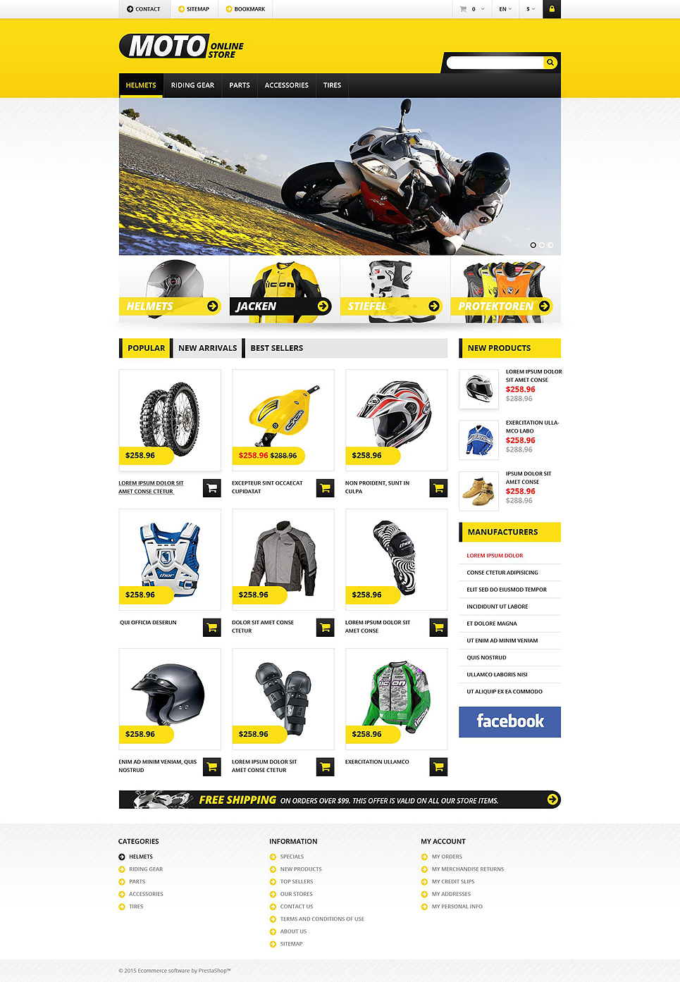 Absolute Best Motorbike Bicycle Parts Ecommerce Store Templates