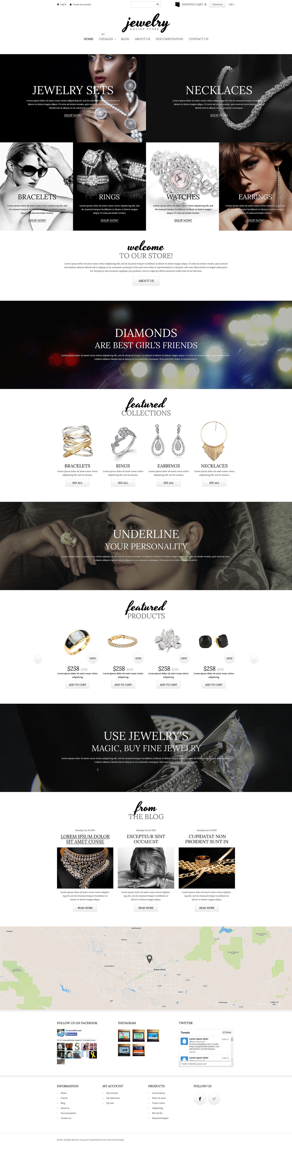 Charming Jewelry Shopify Theme (jewelry and accessories Shopify theme) Item Picture