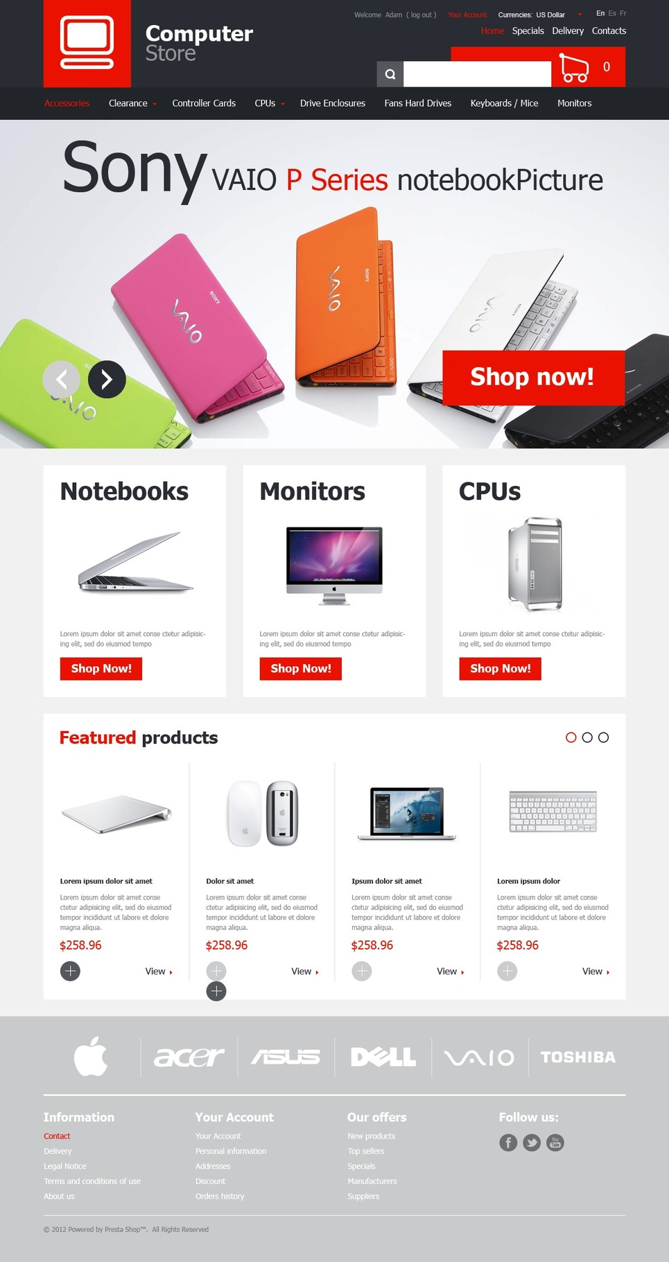 Computer Store (template for PrestaShop) Item Picture