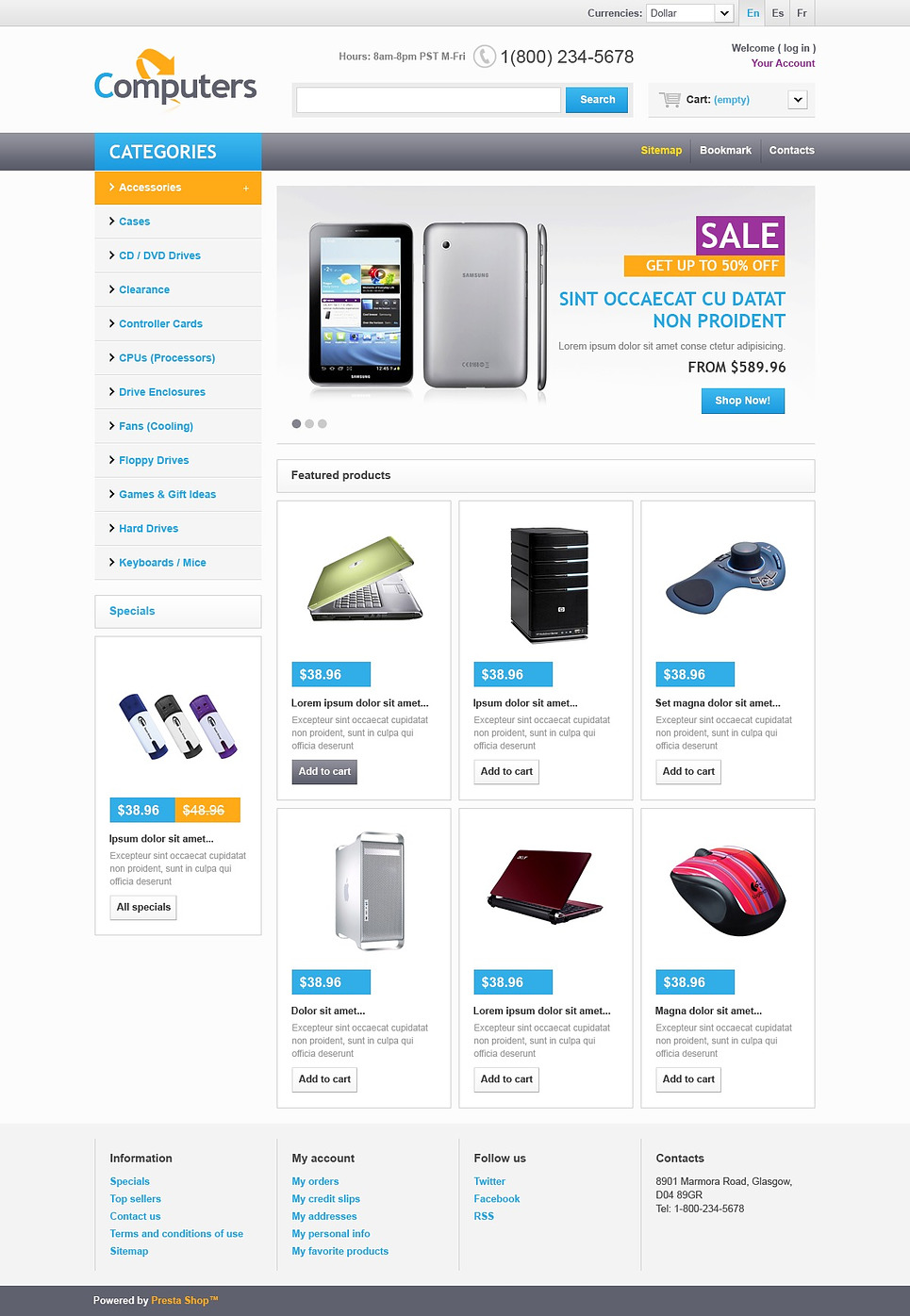 Electronics Gig (template for PrestaShop) Item Picture