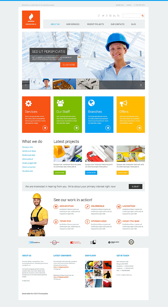 Construction Co WordPress Theme (WordPress theme for the construction industry) Item Picture