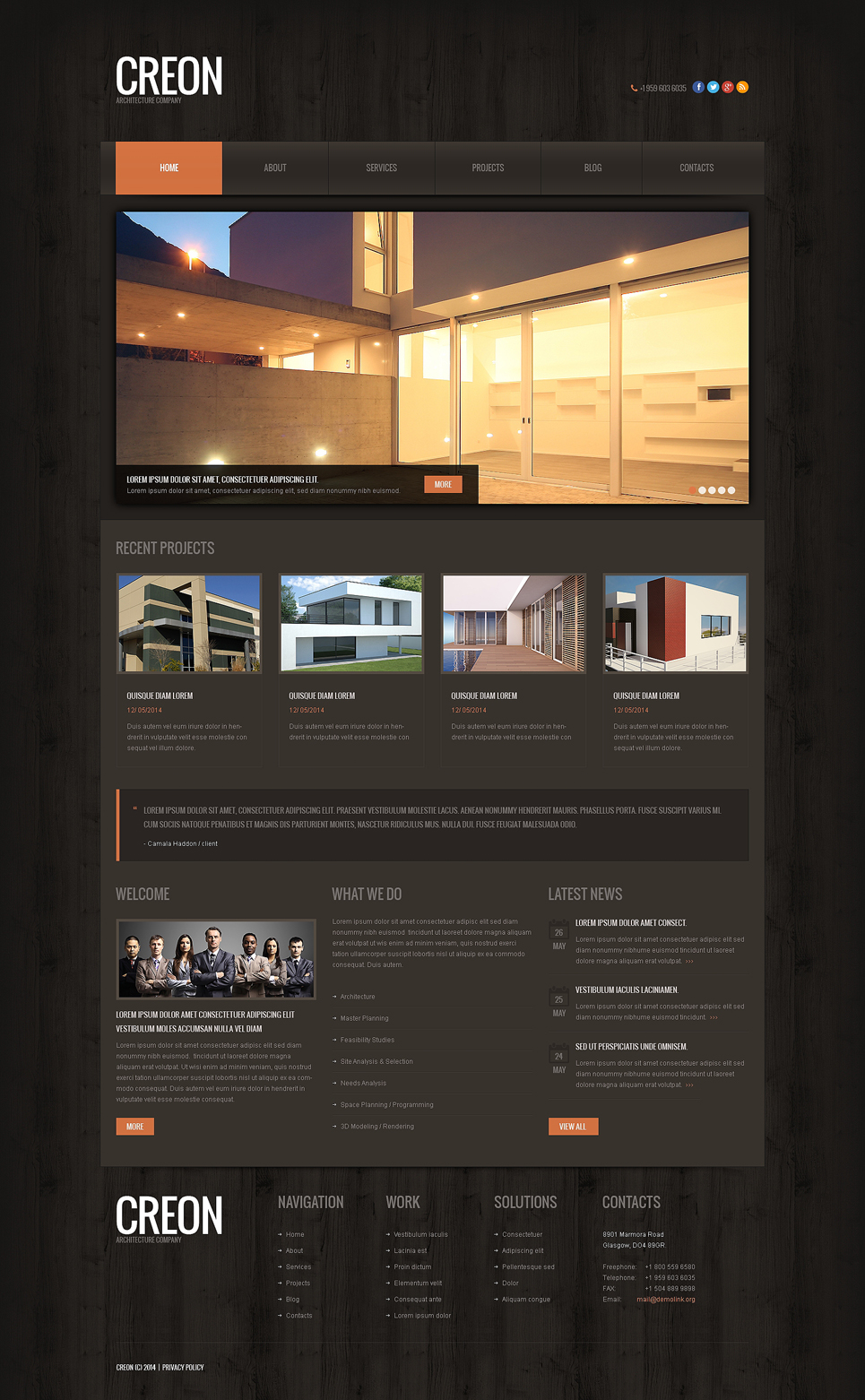 Construction Company Responsive WordPress Theme (WordPress theme for the construction industry) Item Picture