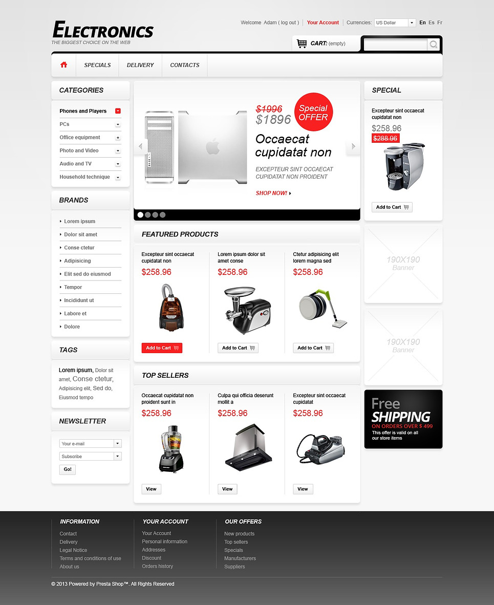 Electronics Store (theme for PrestaShop) Item Picture