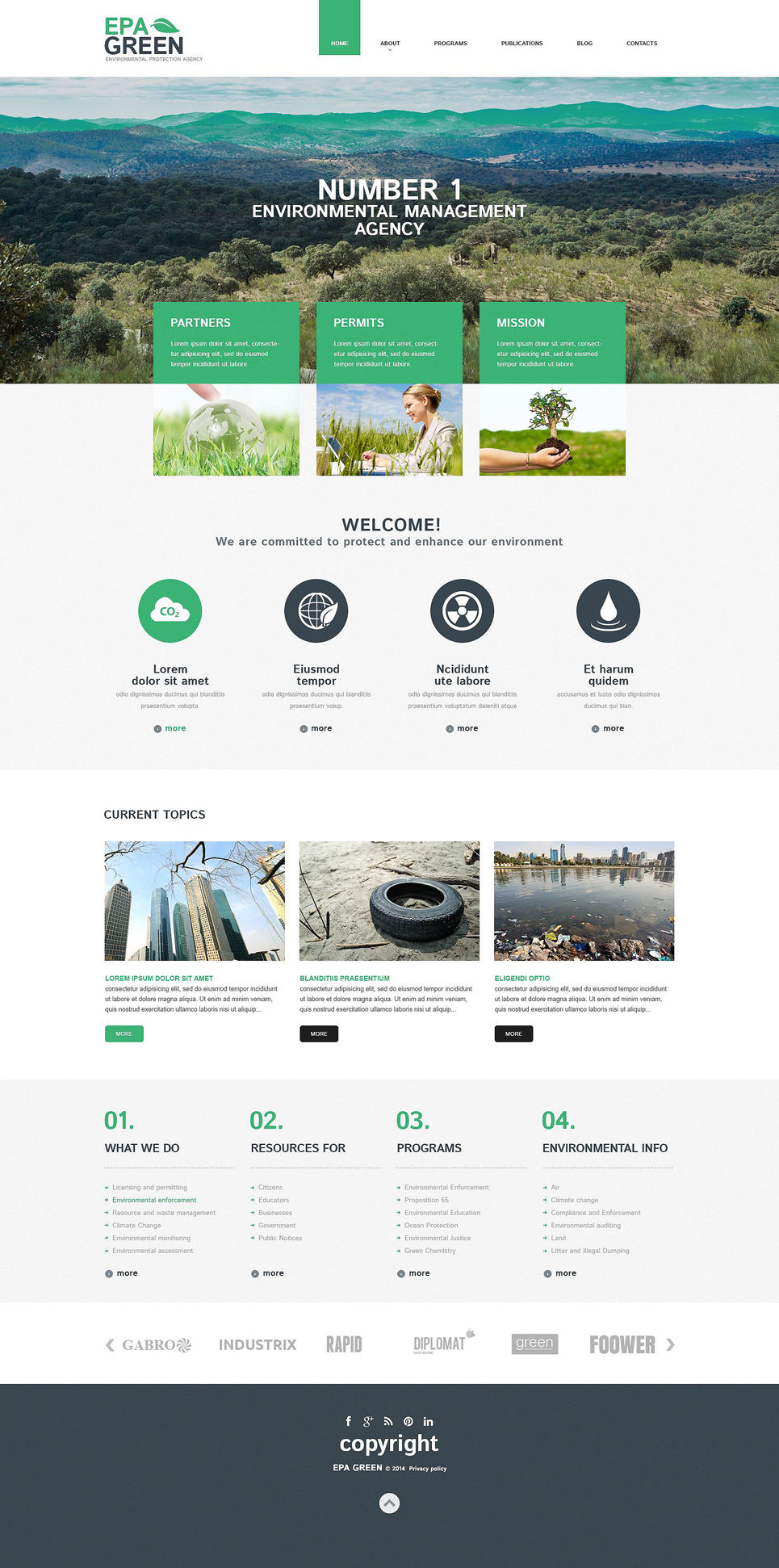 EPA Green (WordPress theme) Item Picture