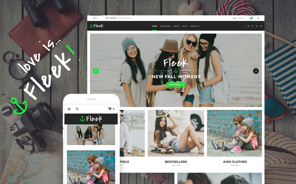 Fleek (WordPress theme for clothing or fashion stores) Item Picture