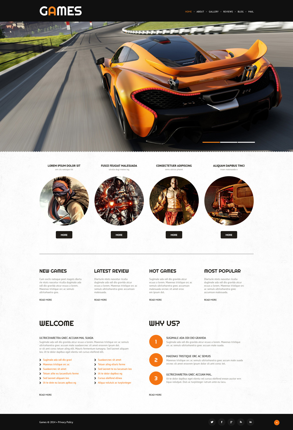 Game Portal Responsive WordPress Theme (WordPress theme for gaming sites) Item Picture