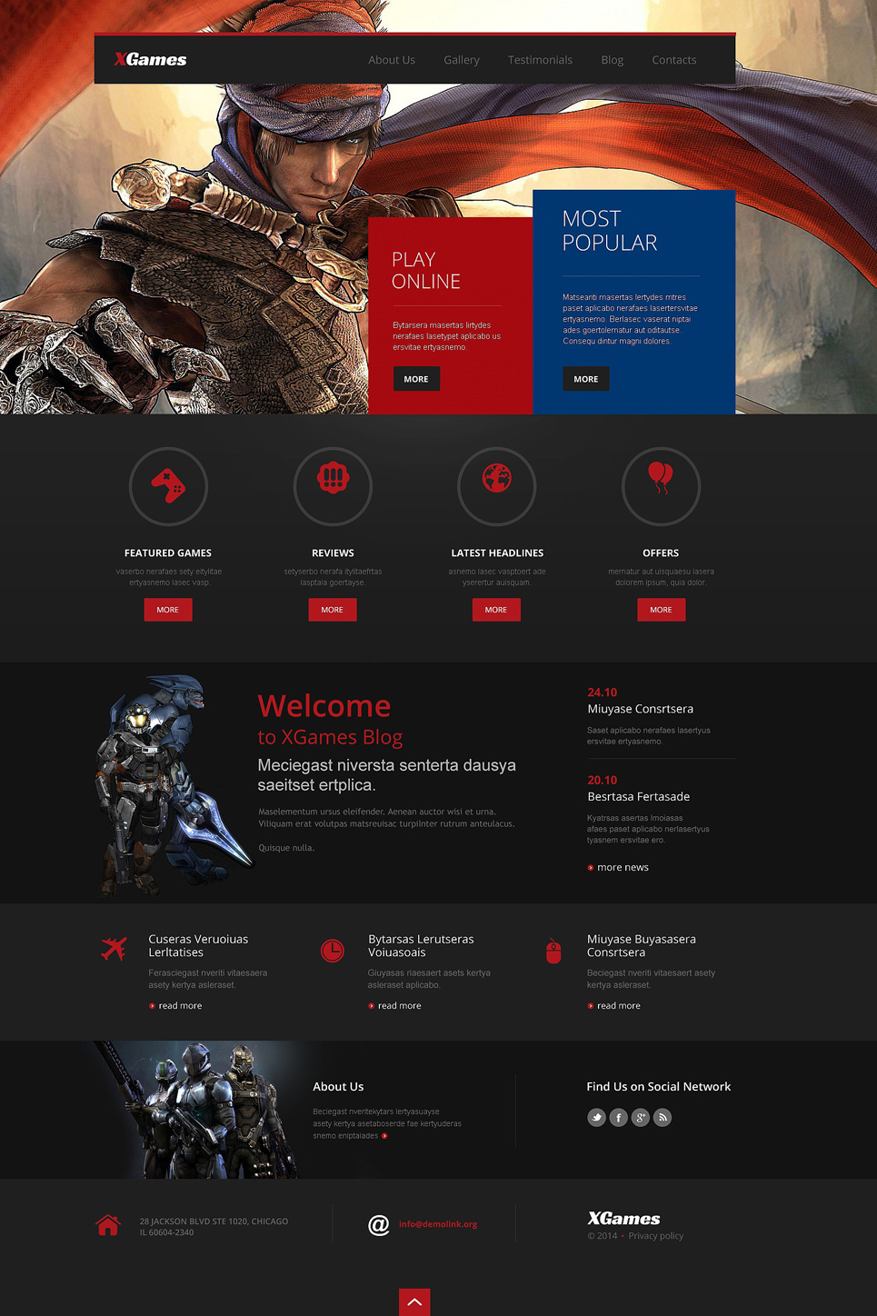 Games Responsive WordPress Theme (WordPress theme for gaming sites) Item Picture