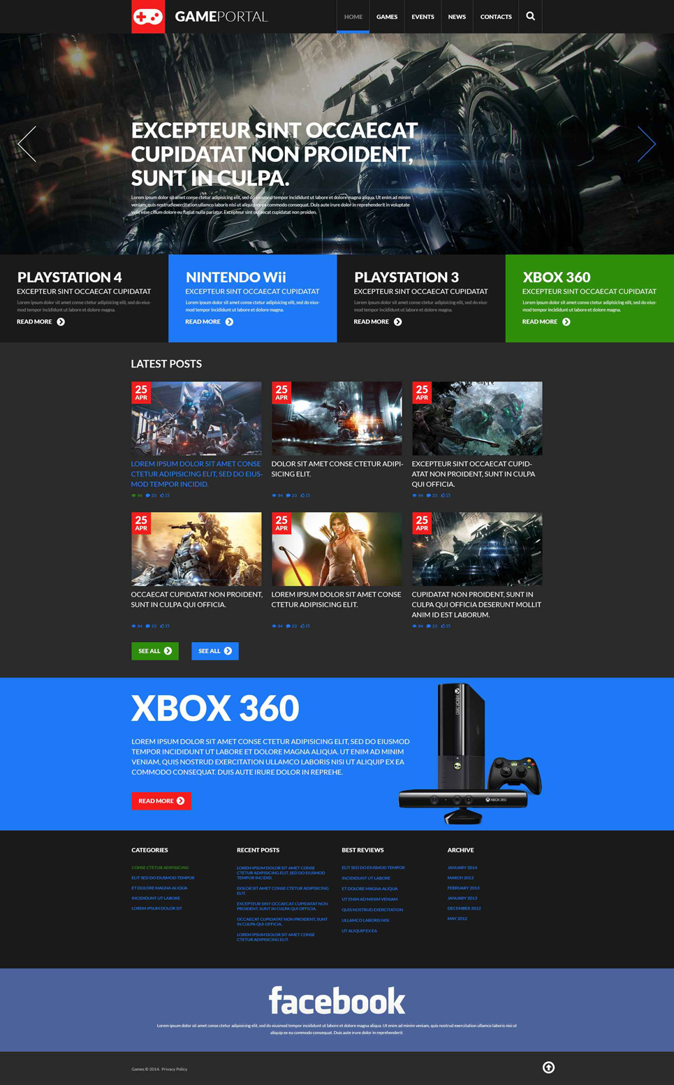 Gaming Fan Board WordPress Theme (WordPress theme for gaming sites) Item Picture
