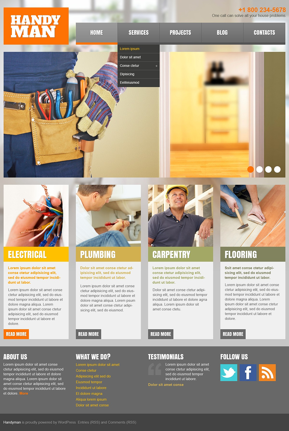 Home Repairs Responsive WordPress Theme
