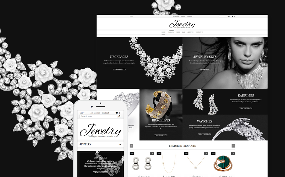 Jewelry Shopify Theme (jewelry and accessories Shopify theme) Item Picture
