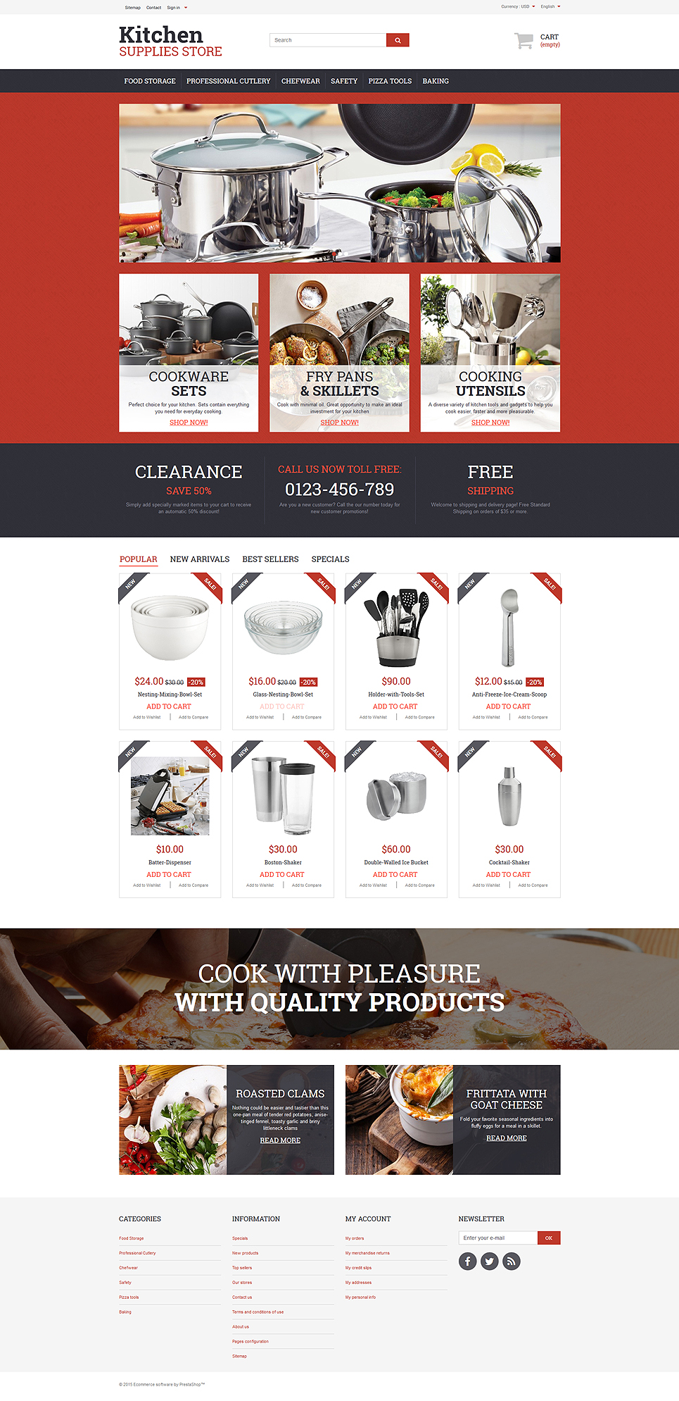 20 Kitchenware Cookware And Knife Store Ecommerce