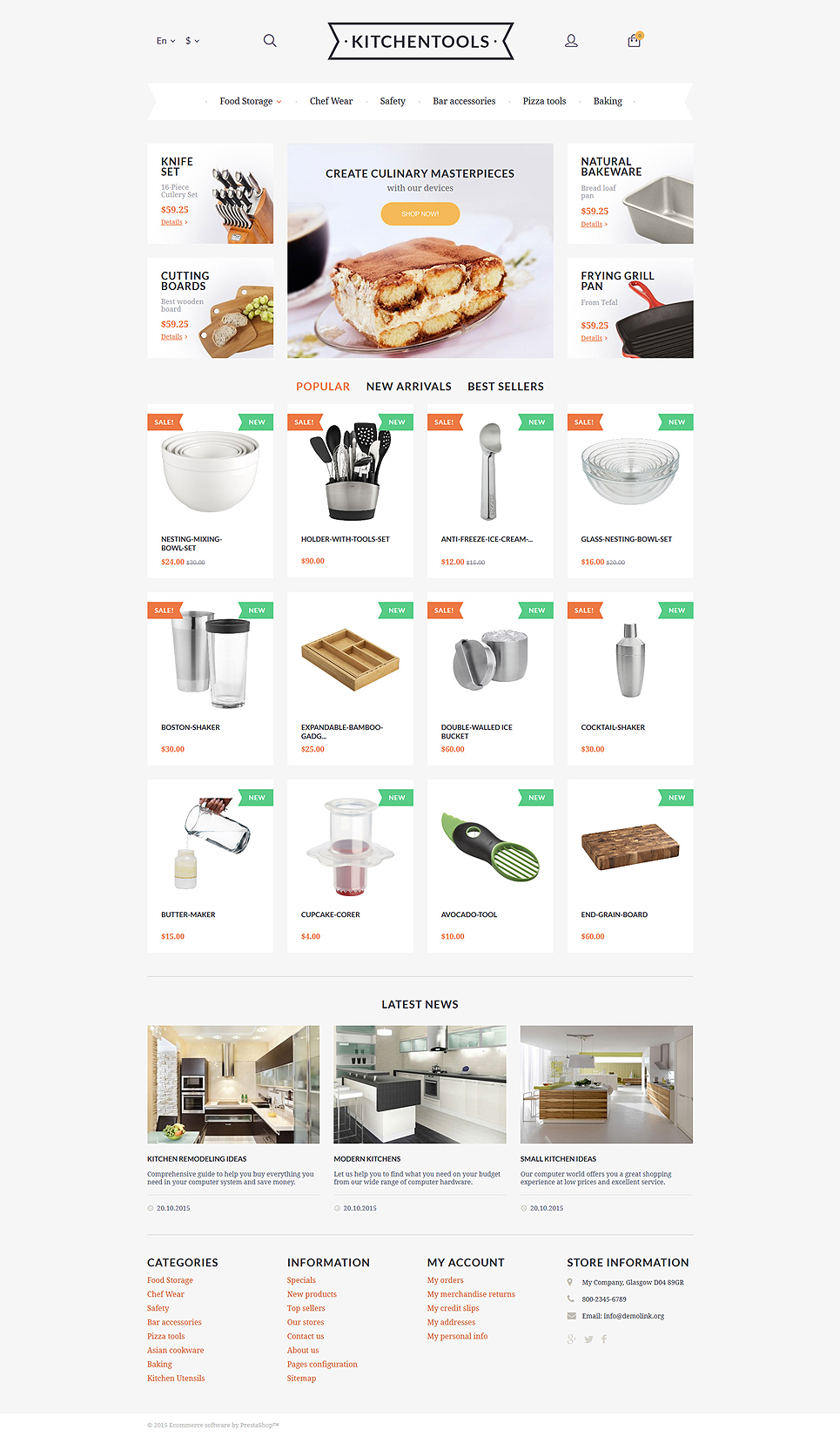 Kitchen Tools (template for PrestaShop) Item Picture