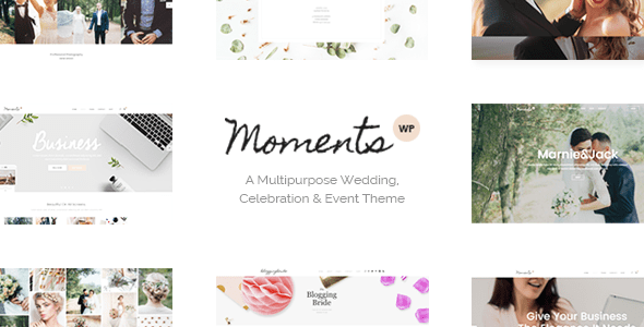 Moments (free wedding invitation WordPress theme) Item Picture