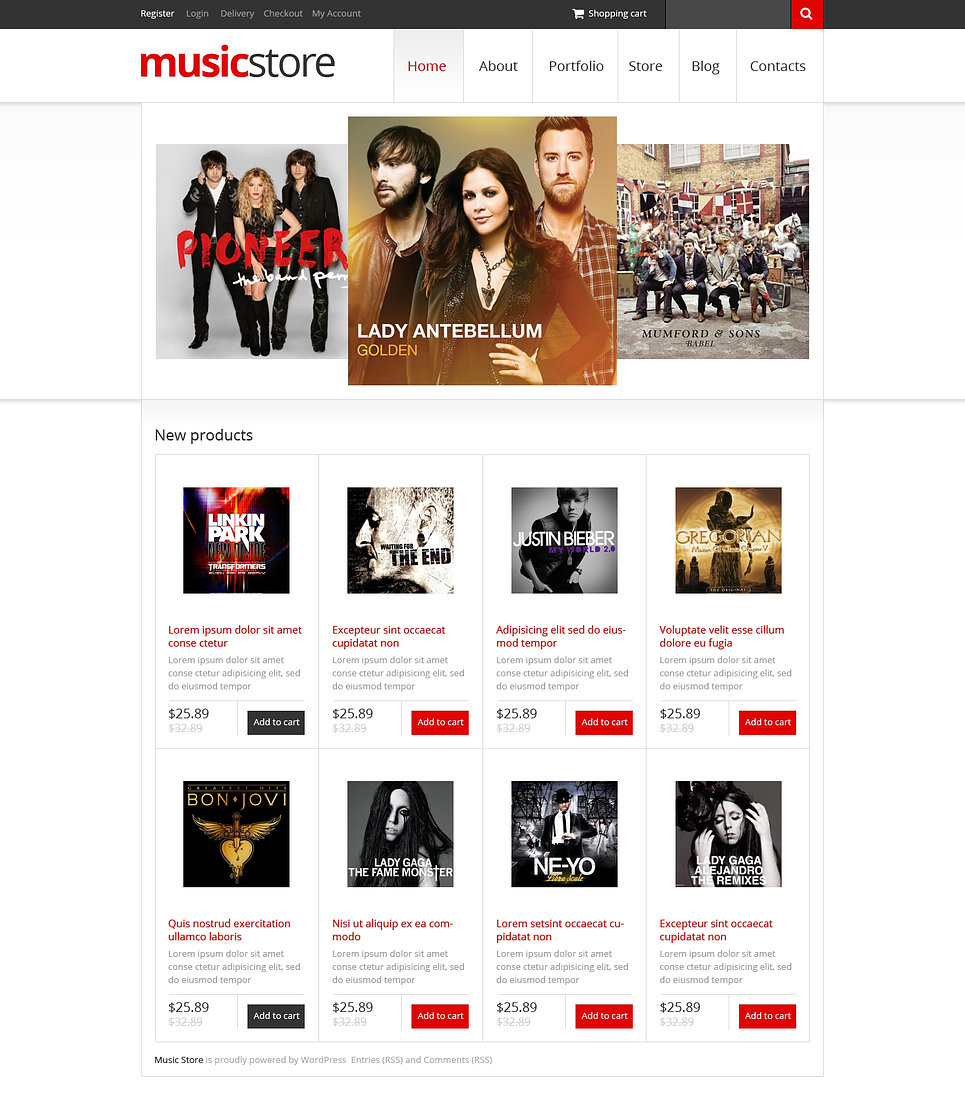Music Store (music store WordPress theme) Item Picture